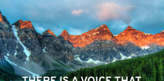 "Quote: ""There is a voice that does not use words. Listen."""