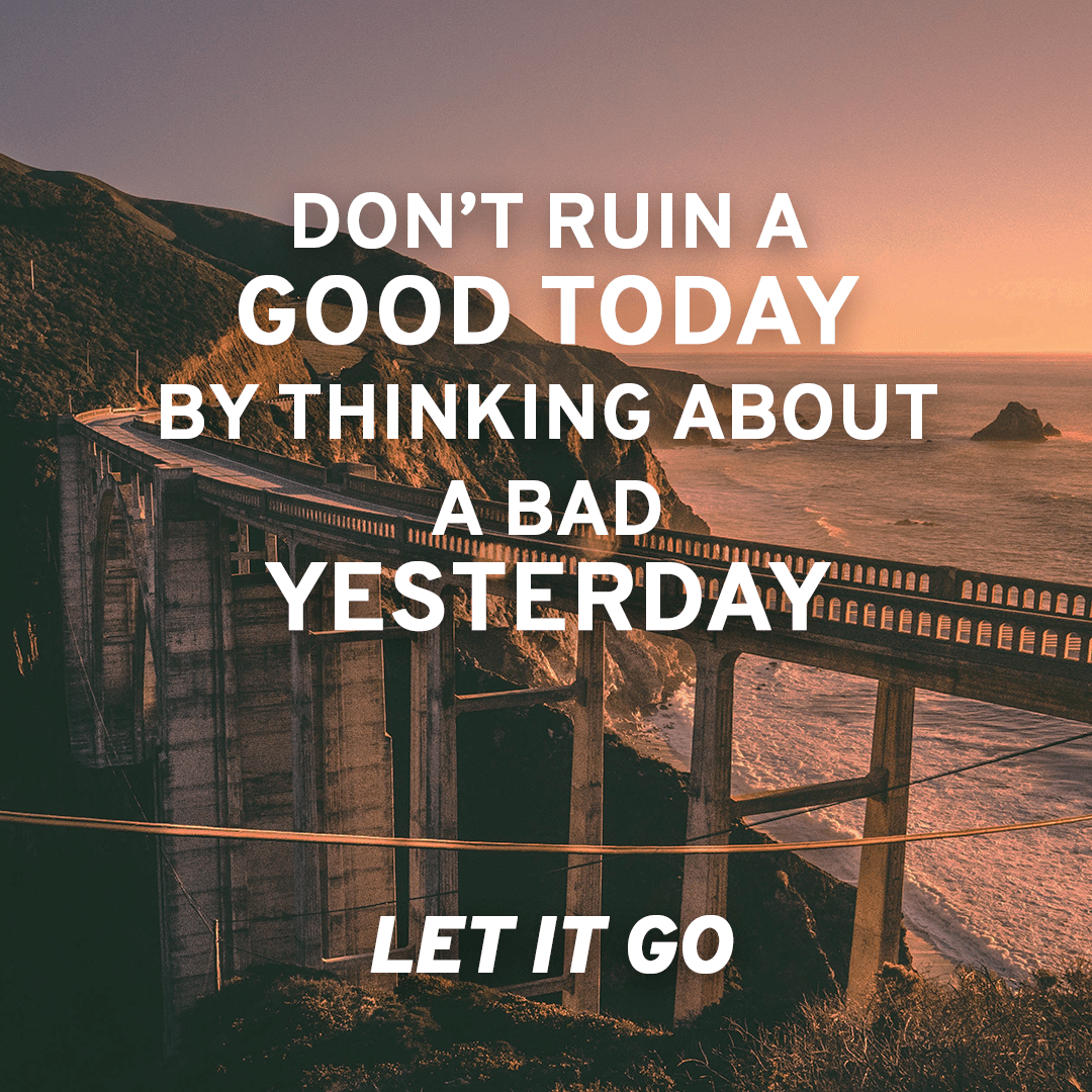 inspirational quote, let it go