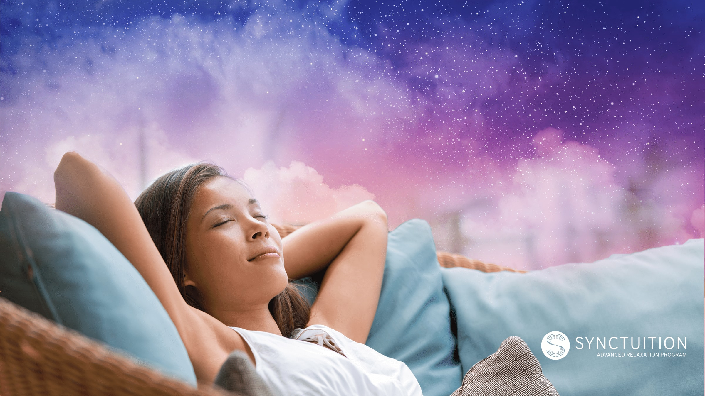 Synctuition combines 3D sounds and mindfulness meditation to ease anxiety-induced insomnia.