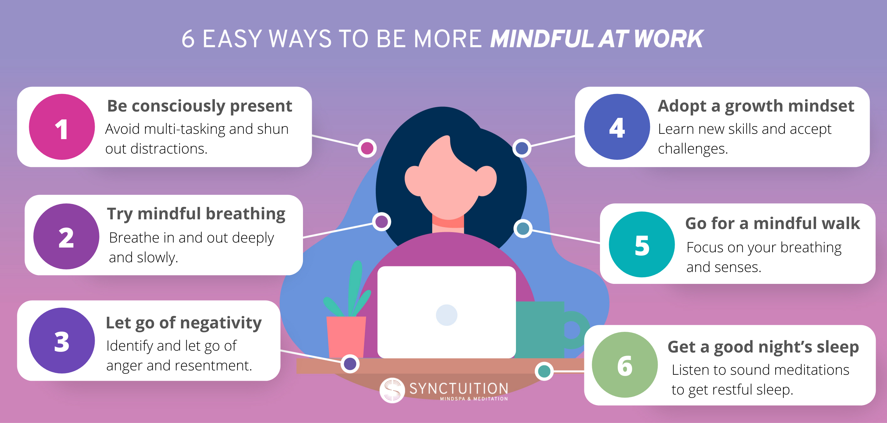 6 ways to be mindful at work